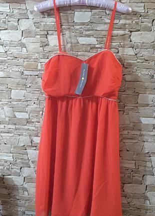 Платье цвета полевого мака, eu 36, cache cache, франция