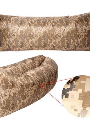 Надувной матрас, ламзак, лежак, шезлонг. Камуфляж. RipStop2.0.