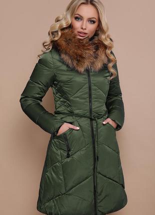 Женская зимняя куртка-пуховик длинная код G-18-86
