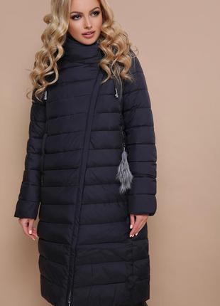 Женская куртка пальто зима био-пух код G-18-32