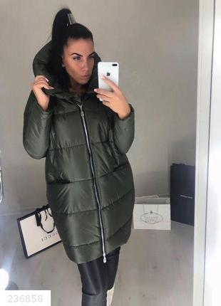 Женская зимняя куртка одеяло черная код Оз-236858