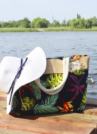 Пляжная сумка, шоппер на море