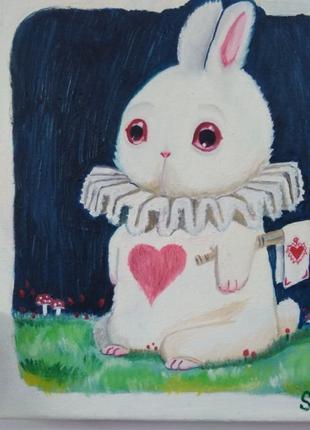 """Картина Белый кролик """"Алиса в стране чудес"""""""