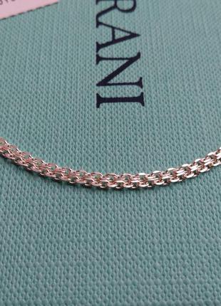 Серебряная цепочка  якорное плетение 50 см серебро 925