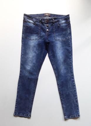 Летние джинсы   скинни  мраморные
