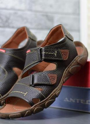 40-45. повседневные мужские кожаные босоножки сандалии из нату...