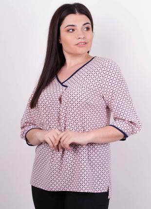 Блуза женская больших размеров код Гл-092