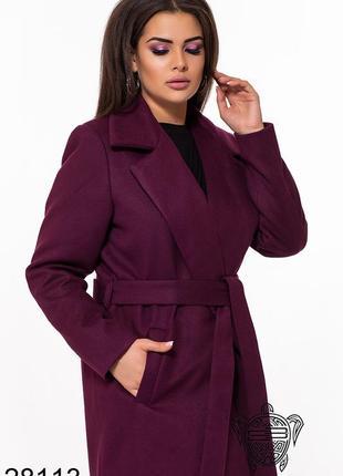 Пальто женское большие размеры код Б-28113