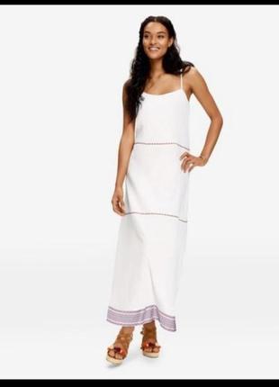 Длинный белый сарафан, платье в пол esmara by heidi klum 38