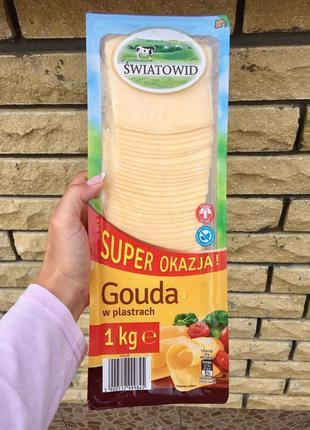 Сыр Swiatowid Gouda Гауда 1 кг Польща