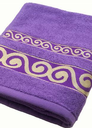 Полотенце махровое Parisa Касабланка 50х90 хлопковое фиолетовый