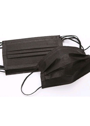 Медицинские защитные маски для лица черные