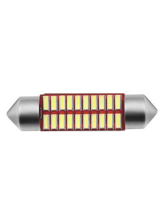 Лед лампы салона C5W 18SMD 4014 36mm (Белый)