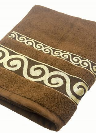 Полотенце махровое Parisa Касабланка 50х90 хлопковое коричневый