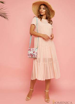 Воздушное расклешенное платье «baby doll»