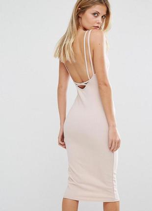 Сексуальне міжі плаття oh my love london topshop платье нюд по...