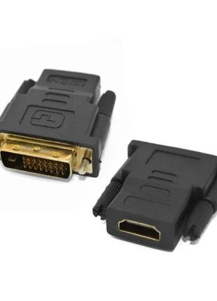 Переходник из DVI-D (24+1) папа -> HDMI мама 1080p адаптер конвер