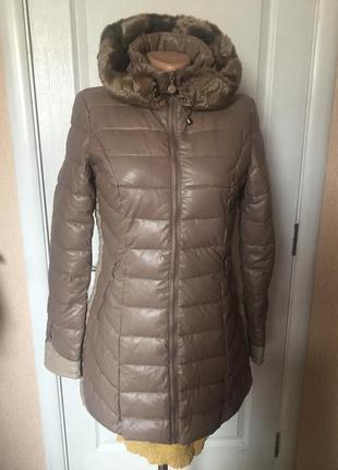 Куртка-пальто удлиненное теплое,  размеры:s,m код 766