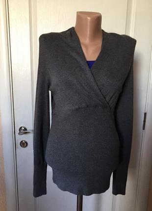 Свитер женск. серый с широкой резинкой код С-2062