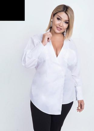 Блуза женская белая большие размеры код ST-50904