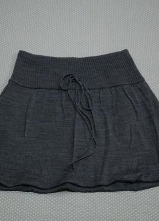 Двойная трикотажная мини юбка terranova xs