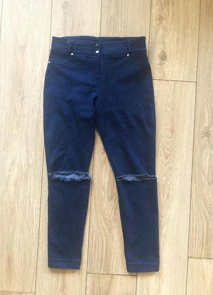 Летние джинсы скинни из легкого стрейч-коттона