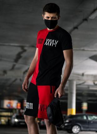Летний мужской комплект Smile Черно-Красный