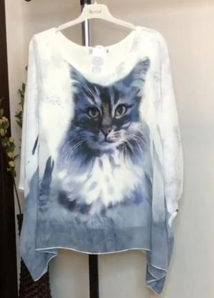 Женская футболка блуза. большие размеры батал