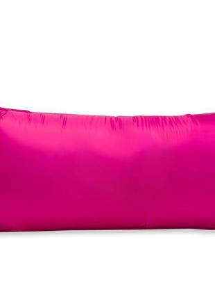 Надувной матрас, ламзак, лежак, шезлонг для розовый. Серия лайт.