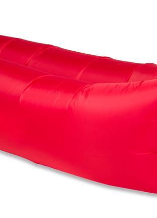 Надувной матрас, ламзак, лежак, шезлонг Красный. Серия RipStop.