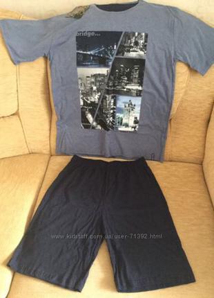 Комплект набор пижама шорты футболка cornette bridge hays