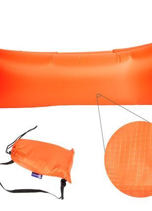 Надувной матрас, ламзак, лежак,шезлонг Оранжевый.СерияRipStop2.0