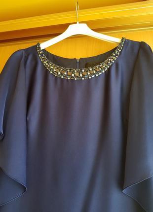 Темно-синее платье barbara schwarzer 48-50р