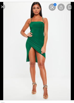 Платье со шнуровкой на спине микромасло missguided uk 12
