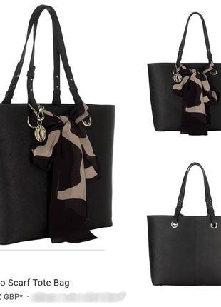 Кожаная большая сумка сафьяно шоппер dkny saffiano