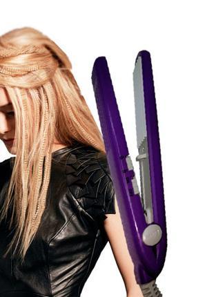 Мини плойка-гофре для волос pro GM-2986 Purple Gemei AY28869