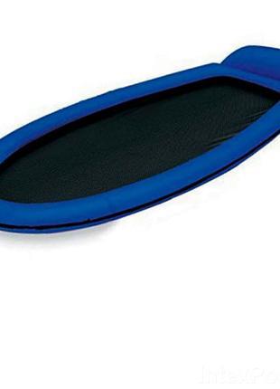Пляжный надувной гамак Intex 58836, 178 х 94 см, синий