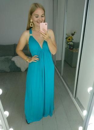 Роскошное макси платье в греческом стиле пляжное №100