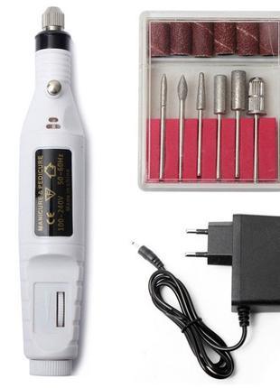 Фрезер для маникюра white 15 000 об/мин USB ручка
