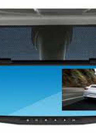"Зеркало-регистратор L9000 2 камеры DVR mirror FullHD 1080p 4.2"""