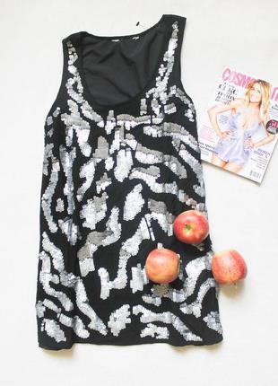 Нарядное платье пайетки, размер м-l
