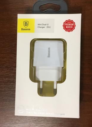 Сетевое зарядное устройство Baseus Mini 2USB 2.1A