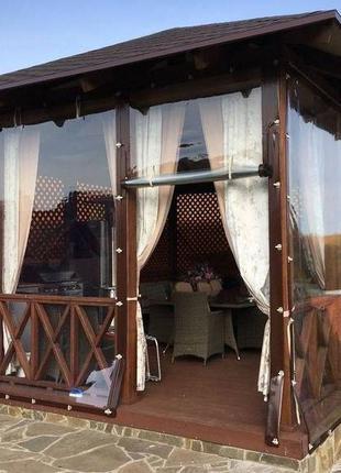 Мягкие гибкие окна шторы ПВХ, м'які вікна, пвх штори для беседок