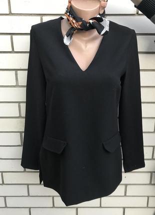 Черная блузка,туника,рубаха без подкладки,zara
