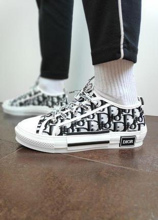 Женские кеды dior sneakers ◈ кроссовки ◈ черно-белого цвета 😍