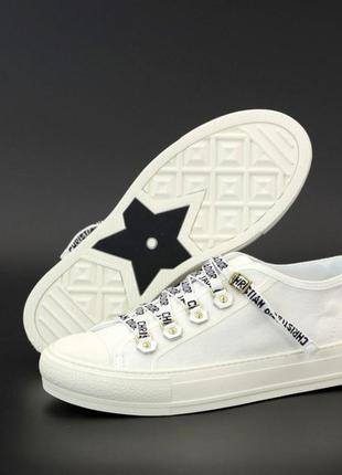 Женские кеды dior sneakers ◈ кроссовки ◈ белого цвета 😍