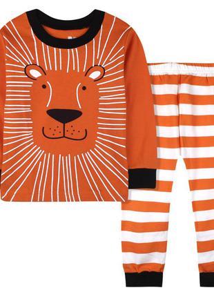 Пижама для мальчика, оранжевая. тигр.