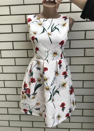 Красивенное,итальянское платье,сарафан,цветочный принт,фактурн...