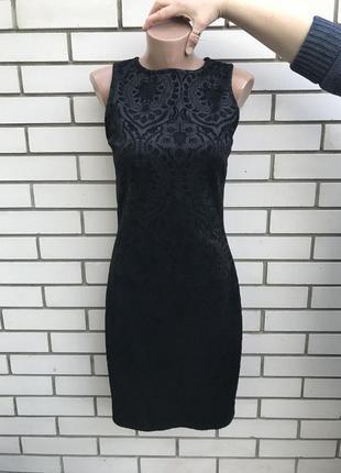 Очень красивое,черное,вечернее платье в бархатный принт,сарафа...