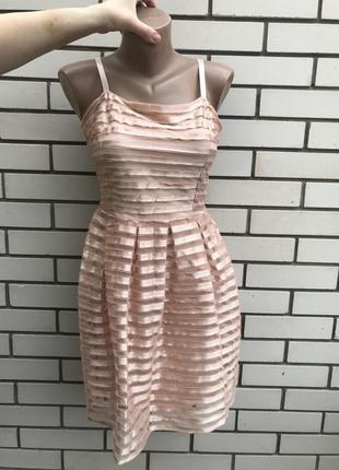 Красивое,нюдовое,розовое,кружевное платье,сарафан, h&m пудрово...